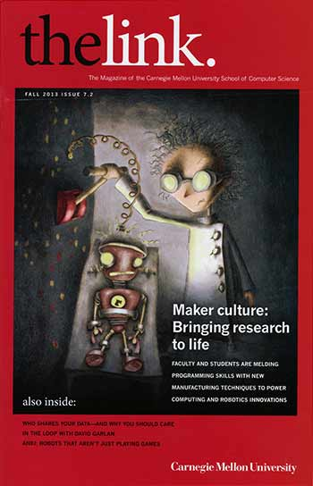 Frankenbot cover for The Link Magazine
