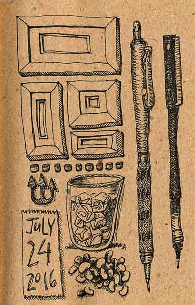 Journal Doodles: 2016-07-24