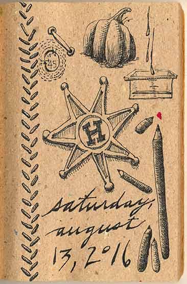 Journal Doodles: 2016-08-13